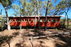 Train carriages were converted for much of the accommodation