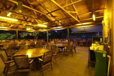 The restaurant bar area