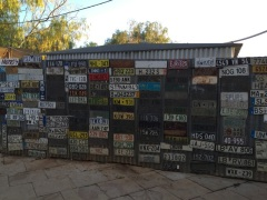 Licence plates at Daly Waters Pub, NT