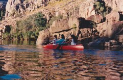 Paddling the first gorge