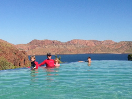 Lake Argyle infinity pool.