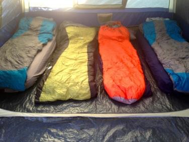 Sleeping in a line. El Questro Gorge.